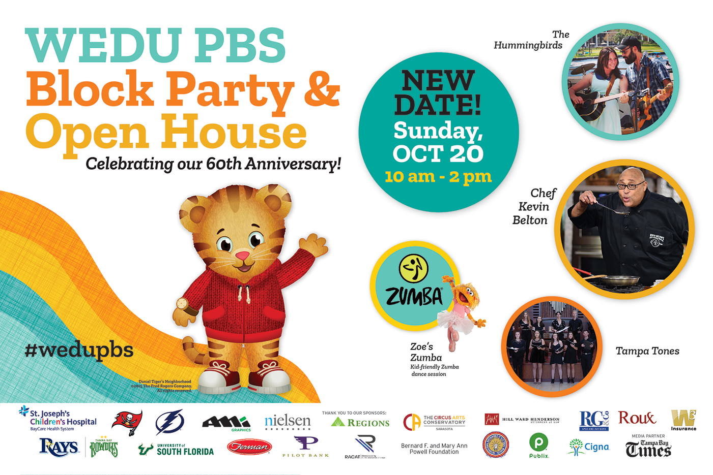 WEDU PBS Block Party & Open House! Celebrating our 60 anniversary!
